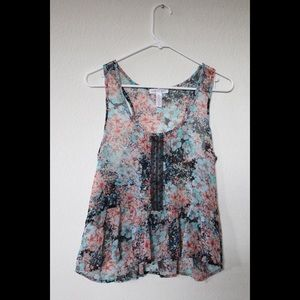 Ambiance Apparel Floral Sleeveless Camisole